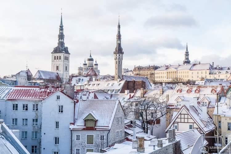 Tallinn no inverno