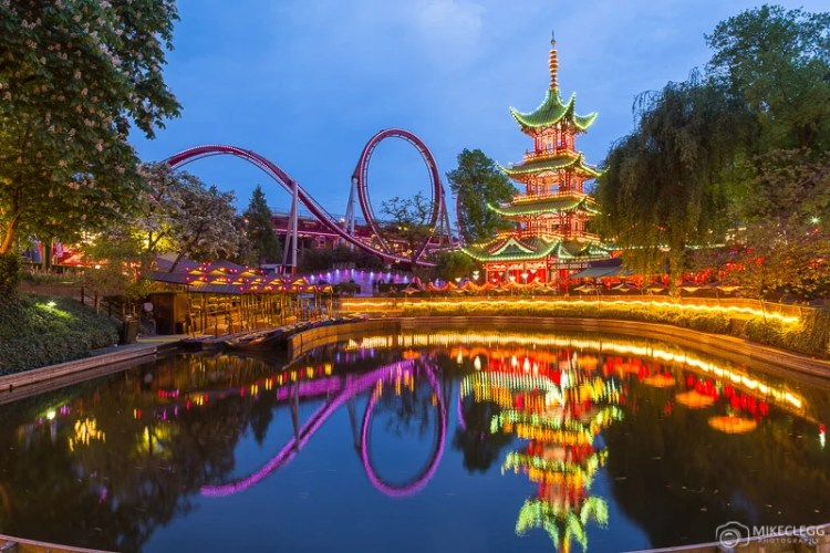 Templo Chinês nos Jardins de Tivoli