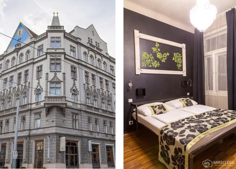 Edifício e quartos em Czech Inn, Praga
