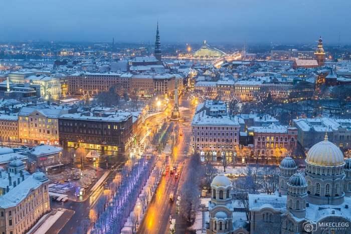 Vista do Skyline Bar Riga