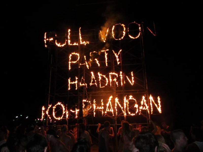 Festa da lua cheia - Koh Phangan
