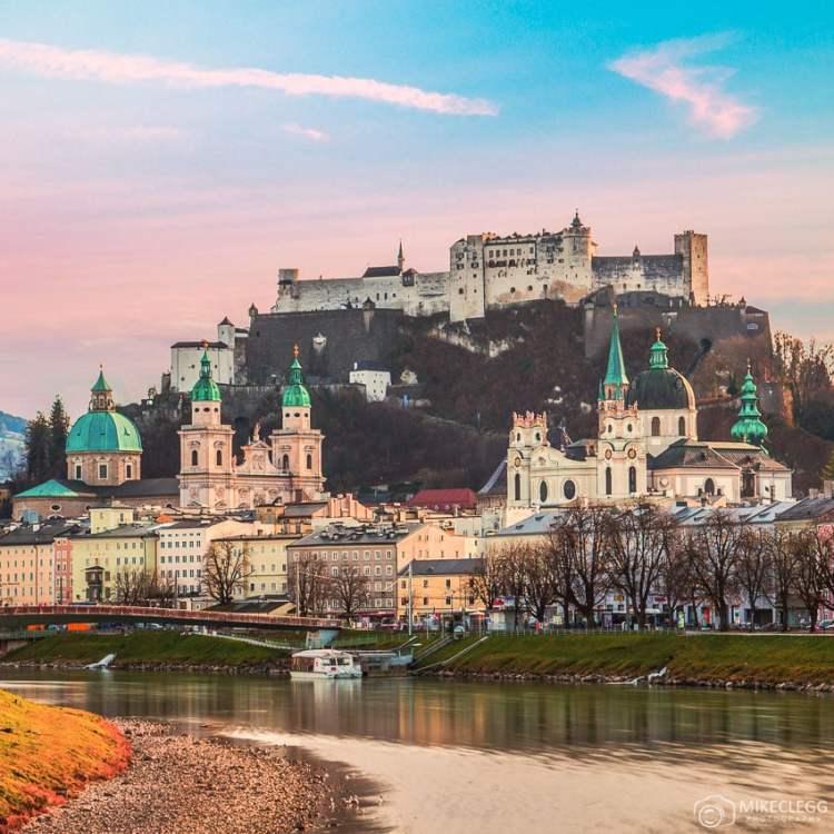 Salzburg do rio Salzach