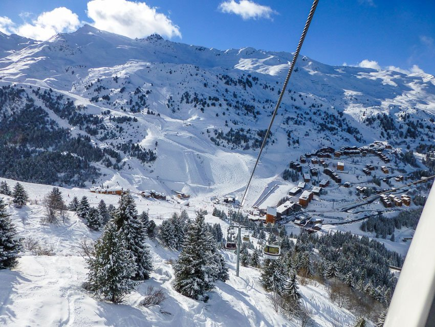 Estância de esqui Meribel, França