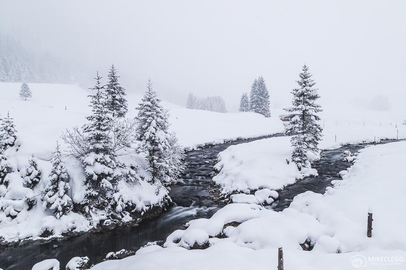 Paisagens de inverno e neve em Gnadenalm
