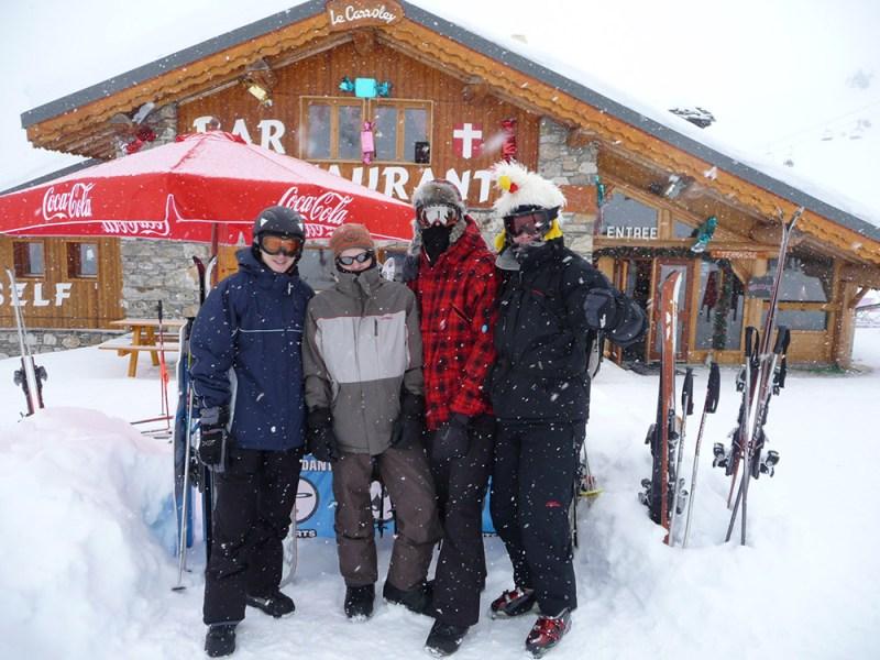 Viagens de esqui com amigos