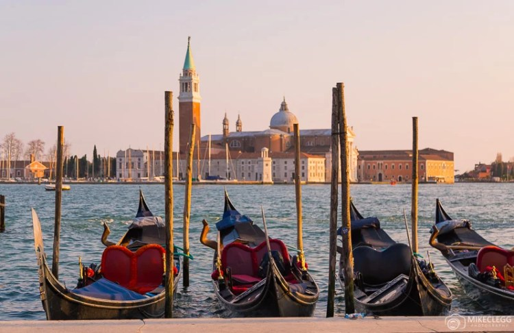 Pôr do sol em Veneza, Itália
