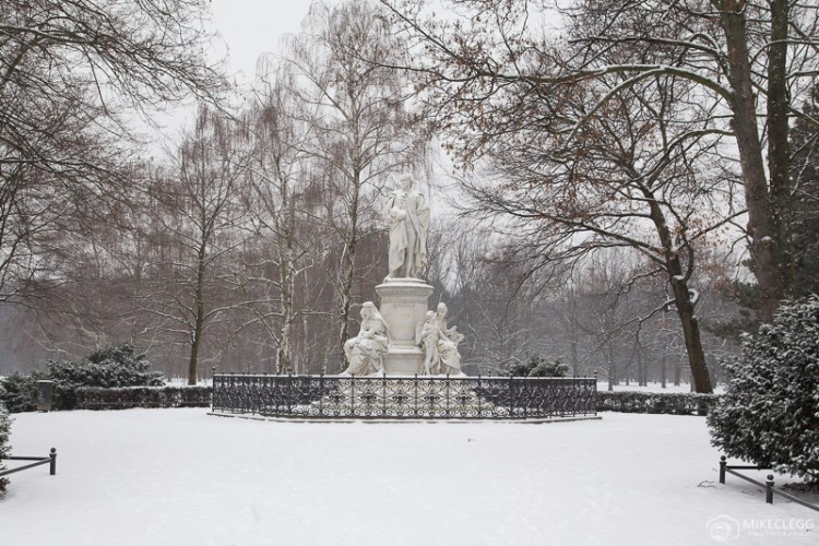 Tiergarten, Berlim no inverno