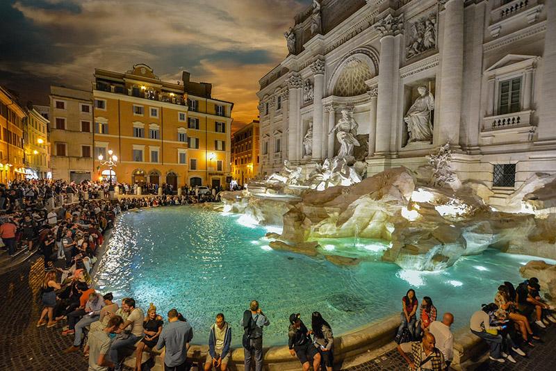 Fonte de Trevi, Roma via Pixabay