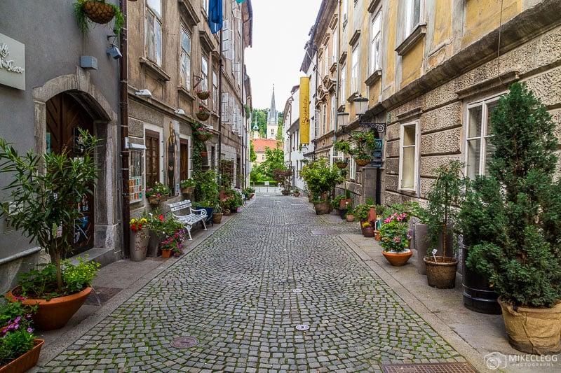Križevniška ulica Ljubljana no verão