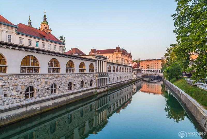 Vista da ponte Butchers 'Ljubljana