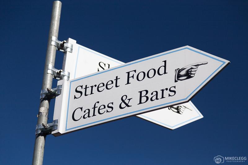Sinalização Street Food em Londres