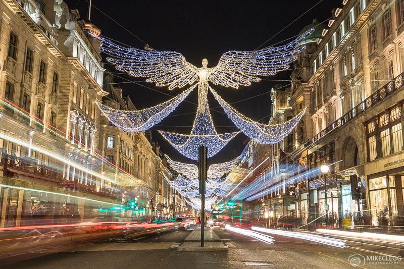 Luzes de Natal da Regent Street em 2018