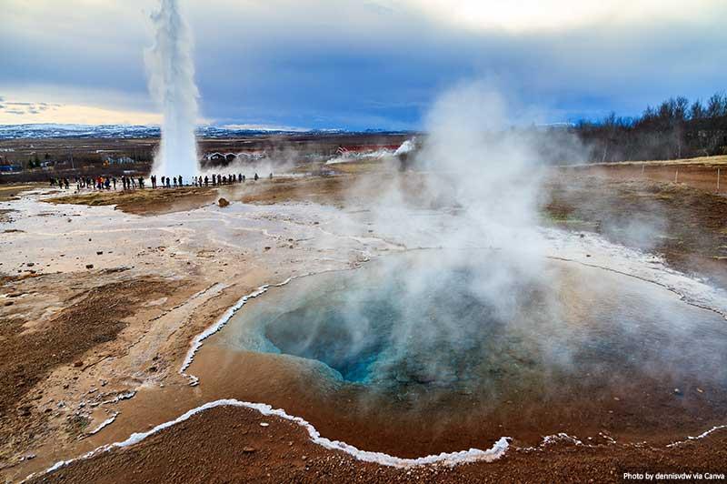 Gêiser na Islândia