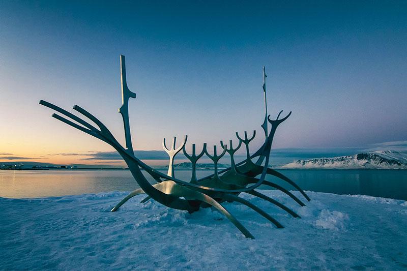 Escultura Sun Voyager, Islândia