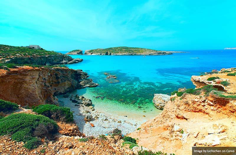 Lagoa Azul Ilha Comino Malta
