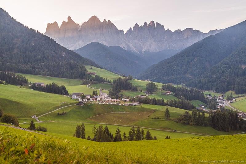 Santa Madalena nas Dolomitas