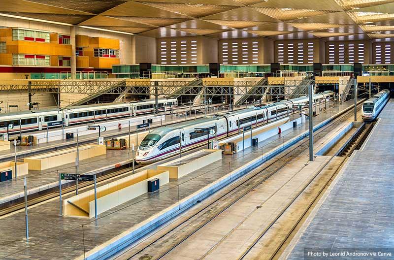 Estação de trem na Espanha