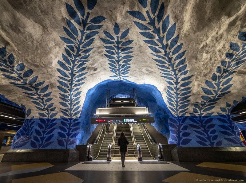 Estação de metrô T-Centralen em Estocolmo