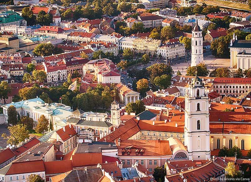Cidade Velha em Vilnius, Lituânia