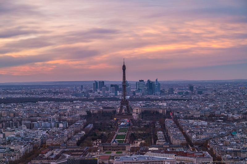 Paris ao pôr do sol de Montparnasse