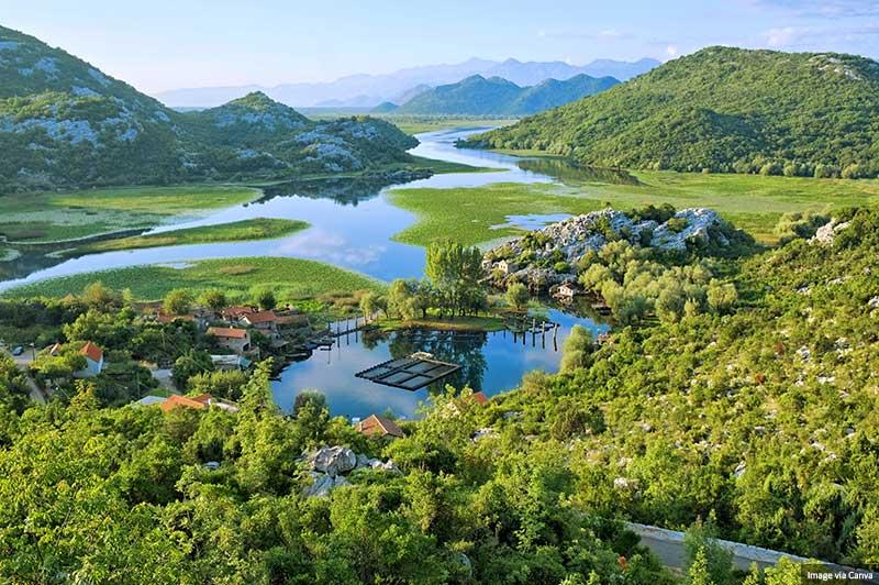 Parque do Lago Skadar em Montenegro