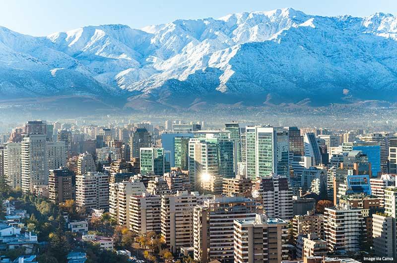 Paisagem urbana de Santiago