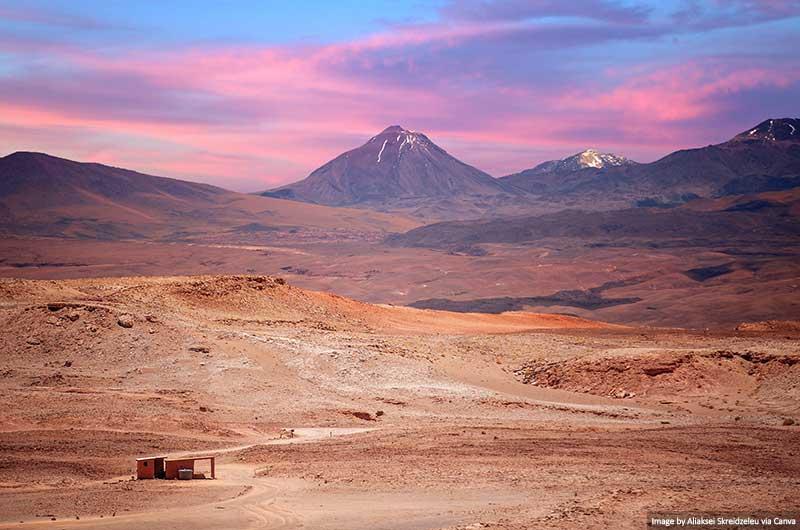 Vulcão Licancabur perto de San Pedro De Atacama