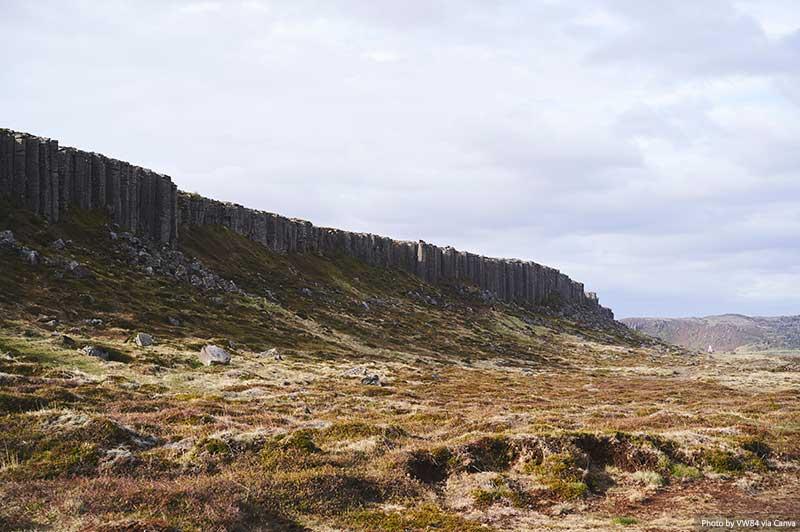 Penhascos Gerðuberg, Islândia