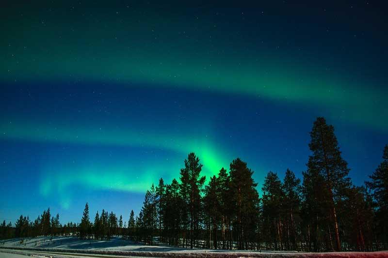 Aurora boreal da Lapônia