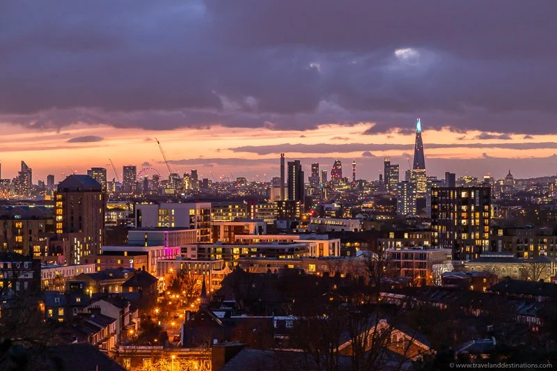 O horizonte de Londres de The Point, Greenwich