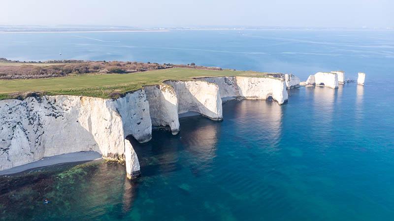 Costa do Jurássico - Old Harry Rocks, Reino Unido
