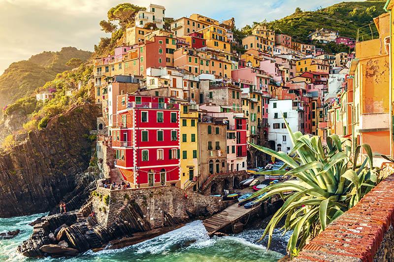 Edifícios coloridos de Riomaggiore