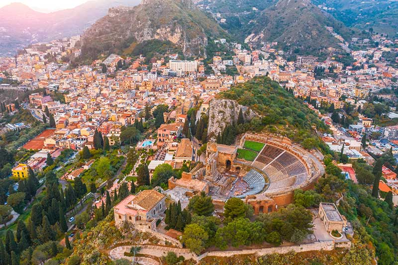 Horizonte de Taormina, Sicília