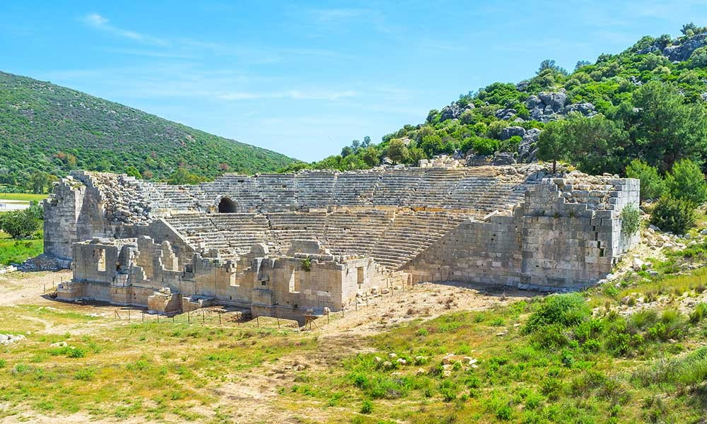 Ruínas do anfiteatro Patara
