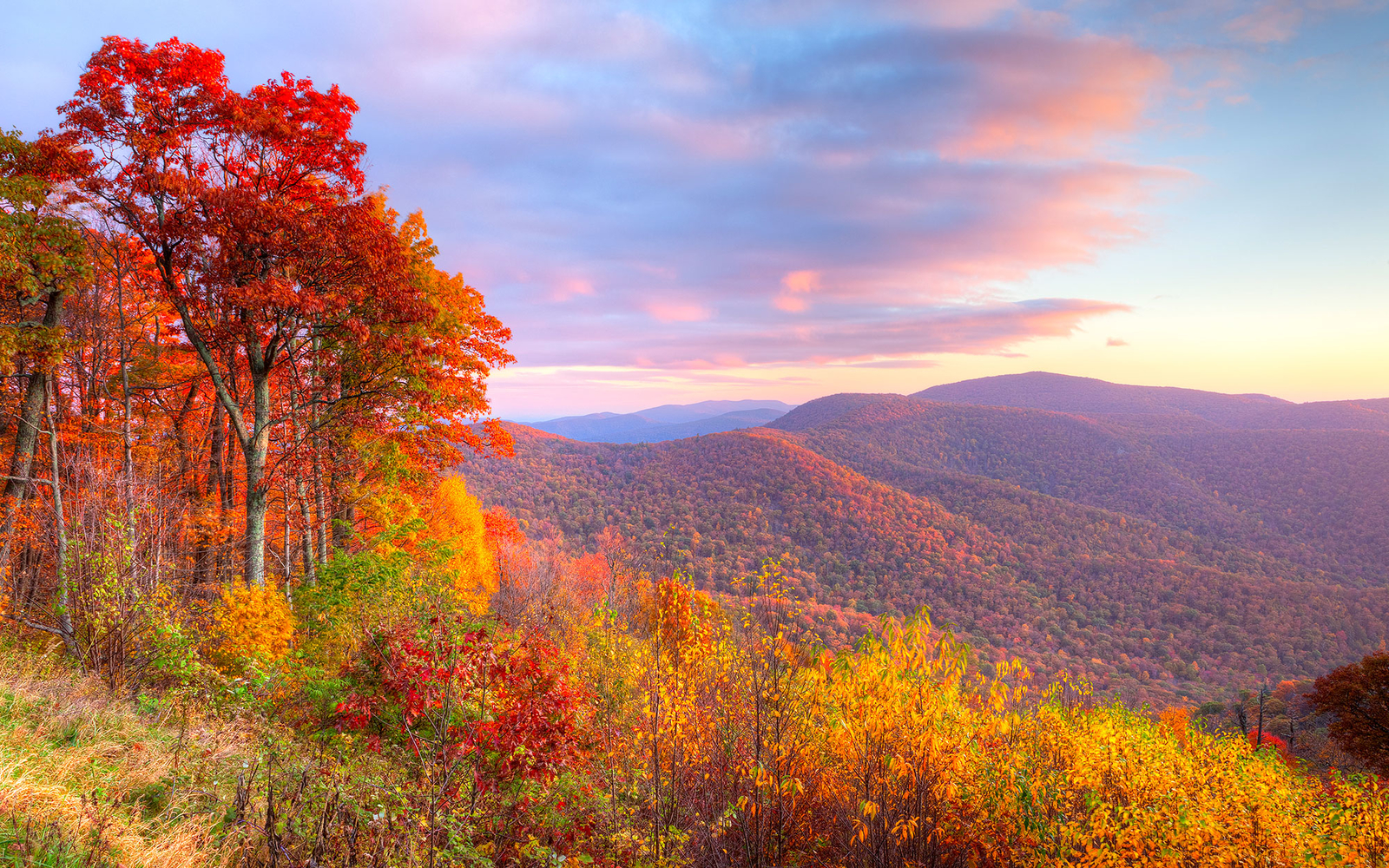 Wallpaper Images Of Fall Trees Lined Lake Best Fall Destinations Besides New England Travel Leisure
