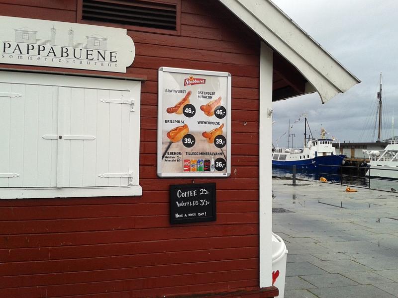 Oslo, ceny jedzenia, fast food