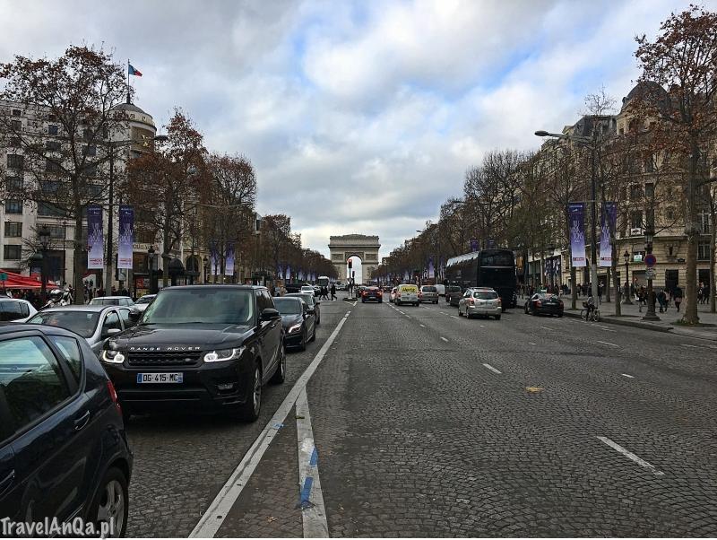Paryż, Pola Elizejskie