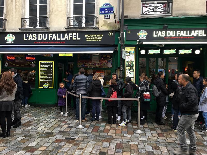 Paryż, Las du fallafel