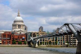 Londyn królewski trakt, Millenium Bridge i Katedra św.Pawła