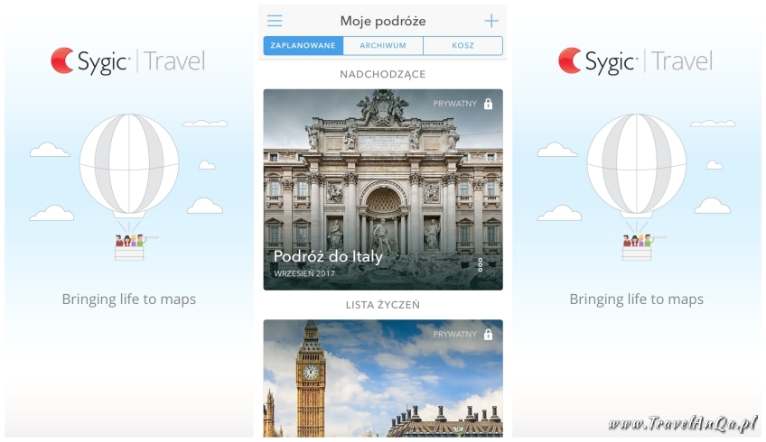 Aplikacje dla podróżników - SygicTravel