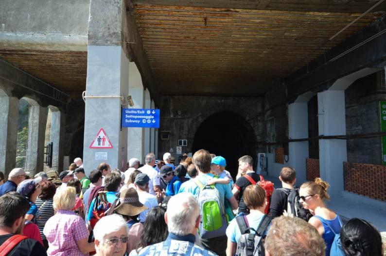 Spitsuur station Cinque Terre