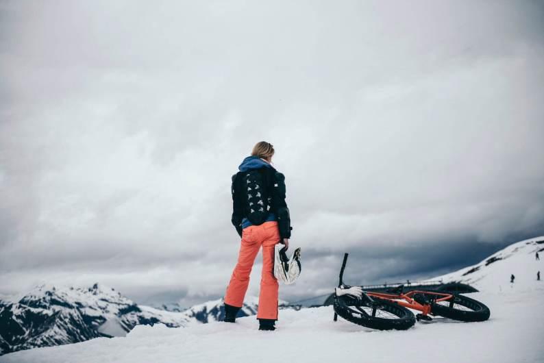 Fatbiken in de sneeuw in Les Menuires