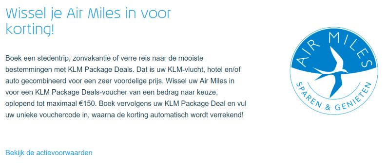 KLM Air Miles inwisselen