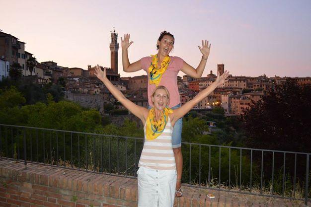 In Siena met Mina die ik in Italie ontmoette