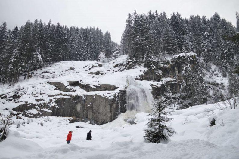 Krimmler watervallen in de winter