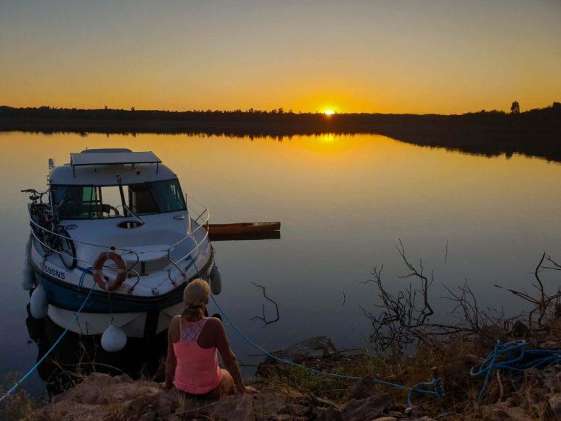 Woonboot Alqueva meer