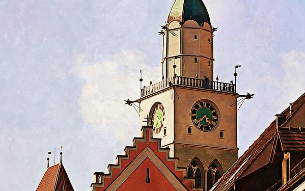 Uberlingen roofs by Tatiana Travelways