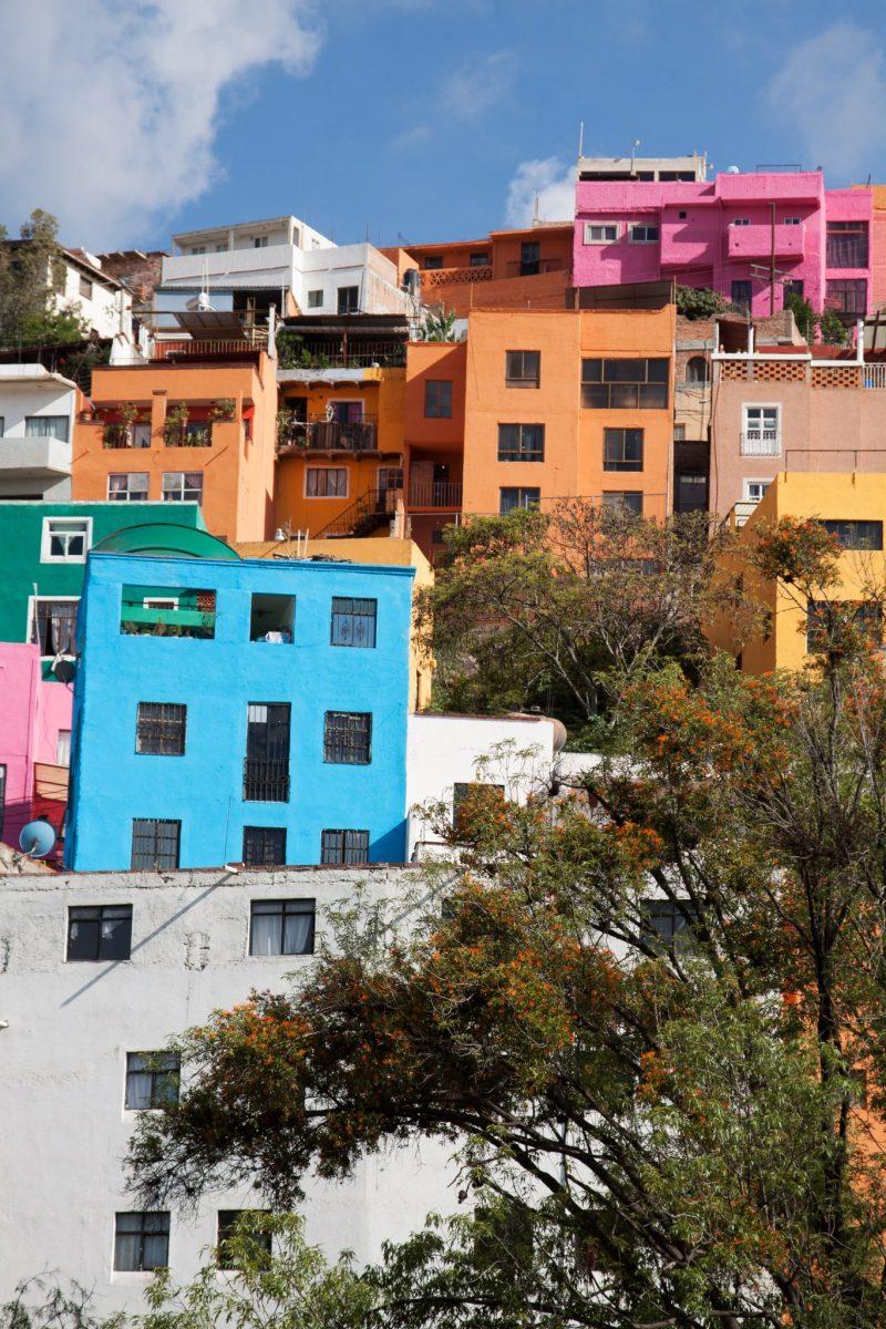 Colorful hilltop buildings in Guanajuato, Mexico