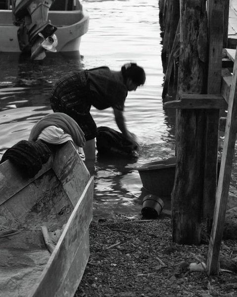 Eco laundry in Lake Atitlan Guatemala