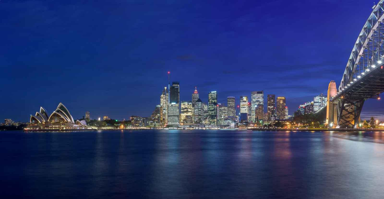 Sydney Skyline at Night by Kim Wilder Hinson